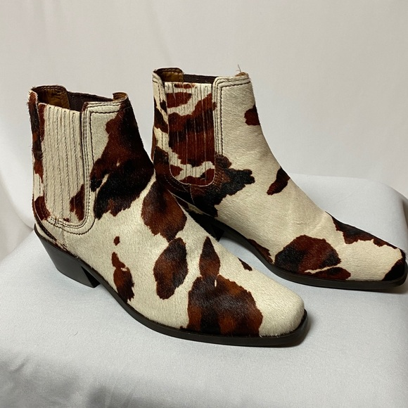 Zara Cow Print Booties